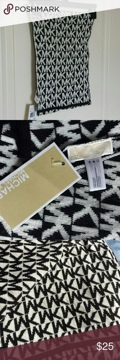 "Scarf Michael Kors Scarf Approx 70"" Long. Black white MK. 100% Acrylic. MICHAEL Michael Kors Accessories Scarves & Wraps"