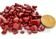 Jaspe Vermelho Pedra de Garimpo Rolado Miudo Pacotinho 20 Gr Mineral Natural