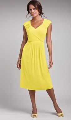 Yellow Plus Size Spring Dress