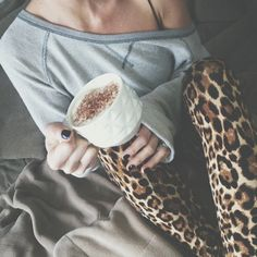 Need a day like this. Cute lounge wear for settling down and drinking some hot chocolate<3