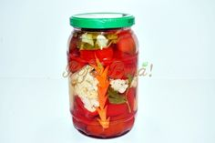 Gogosari in otet Mason Jars, Vegetables, Food, Wings, Canning, Meal, Veggies, Essen, Vegetable Recipes
