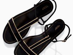 black and gold zara sandals