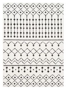 Moroccan Bohemian Shag Rug by Surya | white | Gilt