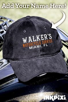 7f876f28fd4 Custom Hats · Prepare for your next outing in a Motorcycle Service  embroidered hat. When they see it