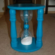 Hour glass stool can be used for time out for your child/children.Very creative.Comes together quickly.Great way to recycle plastic bottles.