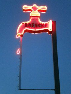 Plumbing supply neon in Saginaw, MI.  And yes, it drips!