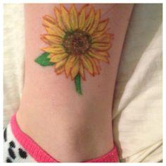 My sunflower tattoo :)