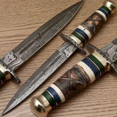 Rody Stan EXQUISITE RARE CUSTOM DAMASCUS ART DAGGER KNIFE - PT-2705