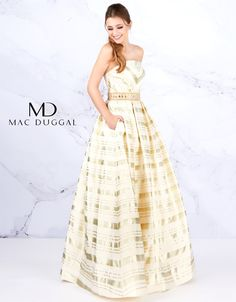 Mac Duggal Ballgowns 2020 2020 Prom Dresses, Pageant, Homecoming and Formal Dresses - Girli Girl Prom Girl Dresses, Ball Gown Dresses, Homecoming Dresses, Strapless Dress Formal, Formal Dresses, Formal Wear, Bridal Elegance, Mac Duggal, Skirts With Pockets