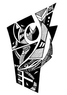 Francois Pretorius - Of Heart & Home 034 (2013) #art #illustration #b&w #design #africa #fineart