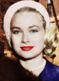 Grace Kelly   THIS pic of her eyes and this blue suit...is BEAUTIFUL !