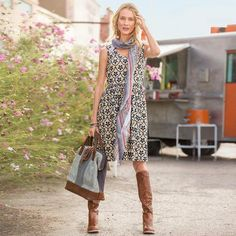 ASTER DRESS, sundance catalog Great pattern, cool dress