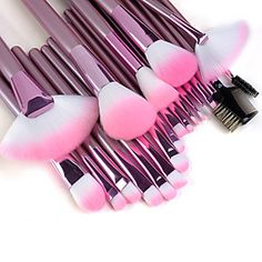 22PCS Professional High Quality Makeup Brush Set with Pink Handle