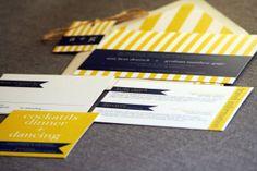 Preppy Chic Striped Wedding Invitation shown in Navy Blue, Yellow and White, Build-Your-Invite Collection - SAMPLE Yellow Theme, Blue Yellow, Navy Blue, Yellow Stripes, Nautical Wedding Invitations, Destination Wedding Invitations, Create Invitations, Invites, Striped Wedding