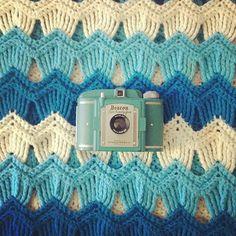 Download Vintage Waves Afghan Crochet Pattern (FREE)