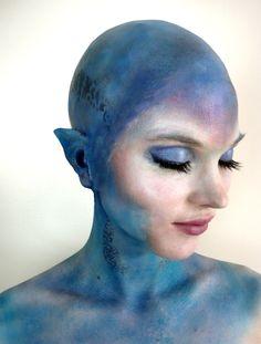 Colouring/human racial advantage. But bald cap again? Madness!