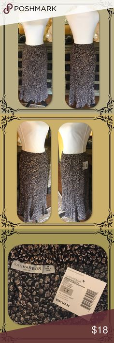 Plus Size Sag Harbor Challis Chic Skirt NWT. Sag Harbor Challis Chic skirt. Knee length, elasticized waist. 1X. Sag Harbor Skirts A-Line or Full