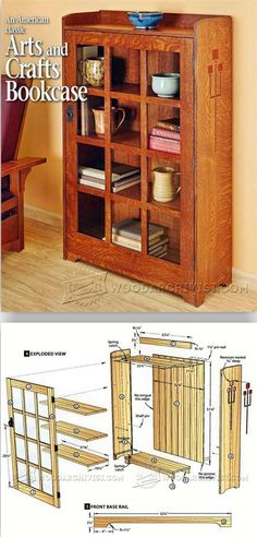 Cherry Wood Bookcase Built In New House Stuff Pinterest