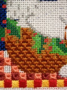 steph's stitching: On the third day of Christmas my true love gave to me.. wheat stitch basket