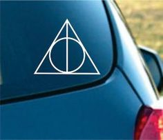 Harry Potter Inspired Deathly Hallows Vinyl by NothinbutVinyl from NothinbutVinyl on Etsy. Saved to harry potter. Harry Potter Car, Harry Potter Deathly Hallows, Car Decals, Bumper Stickers, Vinyl Decals, Vinyl Art, Custom Cups, Cute Cars, Funny Cars