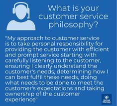 Customer Service Interview Questions and Sample Answers - Customer Service - Ideas of Selling A Home Tips - What is your customer service philosophy?
