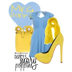 Mary Poppins: Mrs. Banks, created by disneyobsessed on Polyvore