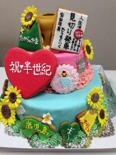 女帝のケーキ、人形など乗る前 1、3段目 レモンパウンド、2段目 オレンジ&チョコパウンド Birthday Cake, Desserts, Food, Tailgate Desserts, Deserts, Birthday Cakes, Essen, Postres, Meals