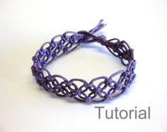 Makramee Armband Muster Anleitung Tutorial Pdf von Knotonlyknots