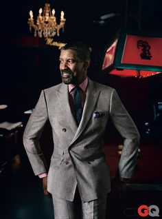 """This man AGES like a Fine Wine....MY GOD! Denzel Washington COVERS The October 2012 Issue of """"GQ"""" AND Dishes On His LEGENDARY Roles And LIFE MANTRA 