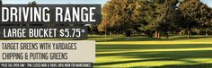 Driving Range $5.75 for a large bucket.   Only at Rolling Meadows Golf and Country Club  www.rollingmeadowsgolf.ca Golf Specials, Rolling Meadows, Large Bucket, Golf Courses, Range, Club, Country, Cookers, Rural Area