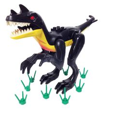 "MinifigurePacks: Lego Dinosaur ""Large Raptor"" and ""Grass Stems"""