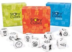 Rory's Story Cubes, Voyages, and Actions Story Cubes, French Teaching Resources, Teaching French, Spanish Classroom, Classroom Ideas, Game Concept, Dice Games, New Theme, Imaginative Play