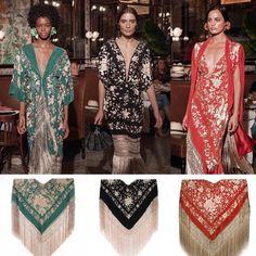 Maravillosos vestidos de la diseñadora Johanna Ortiz confeccionados con mantones NAVA Modest Dresses, Modest Outfits, Hijab Fashion, Boho Fashion, Fashion Design, Kenzo, Spanish Fashion, Special Dresses, Western Dresses