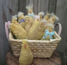 PriMiTiVe  Baby Chick  EaSTeR  SpRiNG  Ornies and by TheSimpleCrow
