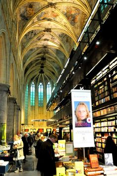 Selexys bookstore based in an old church - Maastricht, The Netherlands