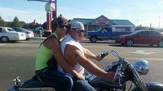 Amanda and Doug  95 custom lowrider Harley Davidson