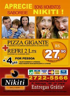 panfleto 10x15 desenvolvido para a pizzaria NIKITI PIZZA