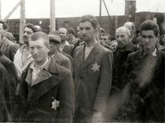 These Jewish men have just entered Birkenau as prisoners.