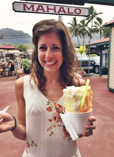 Listen very carefully: go to Jo Jo's. Order the combination of passion fruit, mango, and guava shaved ice over a scoop of macadamia nut ice cream. Spluge for the coconut cream drizzed over the top. Repeat the next day. Then repeat the day after that. Not that I know from experience or anything…
