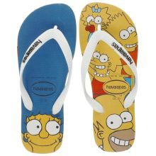 Havaianas Blue & Yellow Simpsons Womens Sandals