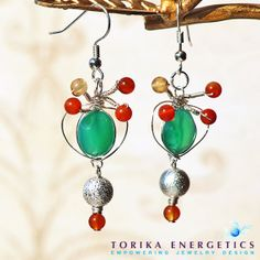 Green Onyx Earrings  Green Earrings Onyx by TorikaEnergetics, $30.00