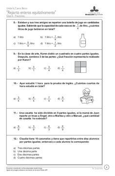 67332002 fracciones-italo[1] Math 5, Math Class, Teaching Math, Fractions Worksheets, Medical Anatomy, Home Schooling, Math Activities, Clip Art, Messages