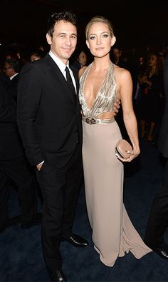 Kate Hudson absolutely stunned in a low, cleavage-baring Gucci gown alongside James Franco as they attended the LACMA 2013 Art + Film Gala honoring Martin Scorsese and David Hockney.