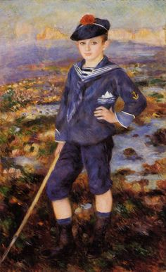 * Pierre Auguste Renoir - - - Young boy on the beach of Yport - Robert NunesPierre Auguste Renoir