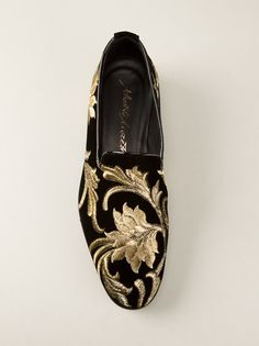 Not for the faint of heart: ALBERTO MORETTI - baroque embroidered slipper
