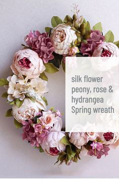 - affiliate link - love this silk flower spring wreath with artificial peony rose and hydrangea flowers and available to buy on Etsy #ad #etsy #artificial #flowers #springwreath#peony #rose #wreath Peony Rose, Hydrangea Flower, Silk Flowers, Spring Flowers, Spring Door Wreaths, Wreaths For Front Door, Artificial Peonies, Etsy Uk, Flower Decorations