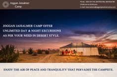 Joggan Jaisalmer Camp Offers Unlimited Day & Night Excursions as per your need in Desert Style Visit http://goo.gl/17IGPW