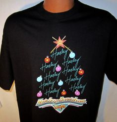 Harley-Davidson Cafe New York Christmas Tree T Shirt Black Size XL  Listed for charity