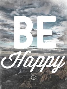 be happy print