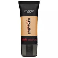 Infallible Pro-Matte Foundation Makeup by L& Paris. Discover a liquid foundation with a matte finish that hides imperfections for a smooth, clear complexion. Best Foundation For Oily Skin, Natural Foundation, No Foundation Makeup, Liquid Foundation, Foundation Shade, Drugstore Foundation, Drugstore Beauty, Flawless Foundation, Powder Foundation